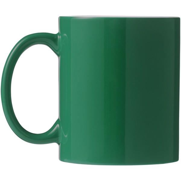 "Taza de cerámica de 330 ml ""Java"" - Verde / Blanco"