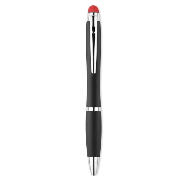 Długopis z podświetlanym logo Riomatch - czerwony