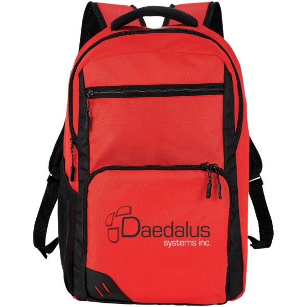"""Rush 15.6"""" laptop backpack - Red"""