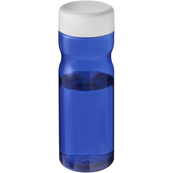H2O Eco Base 650 ml screw cap water bottle - Niebieski / Biały