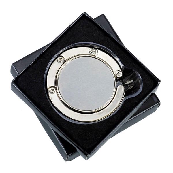 Glamour foldable handbag hanger - Silver