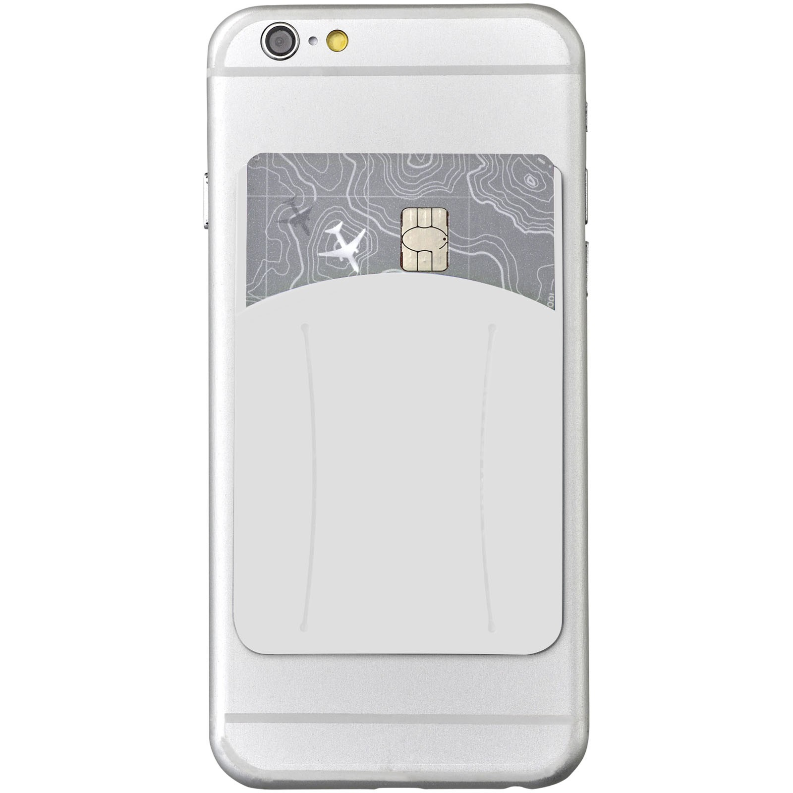 Storee silicone smartphone wallet with finger slot - White