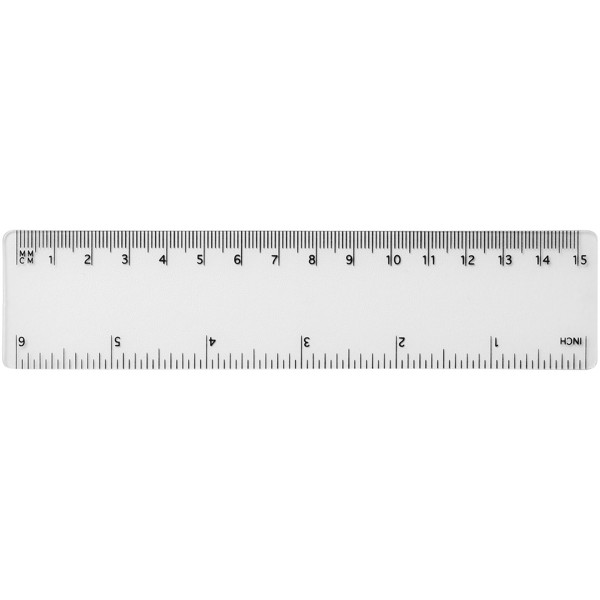 Rothko 15 cm Kunststofflineal - Transparent