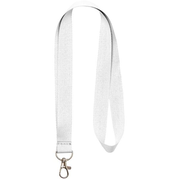 Lanyard Impey s praktickým háčkem - Bílá