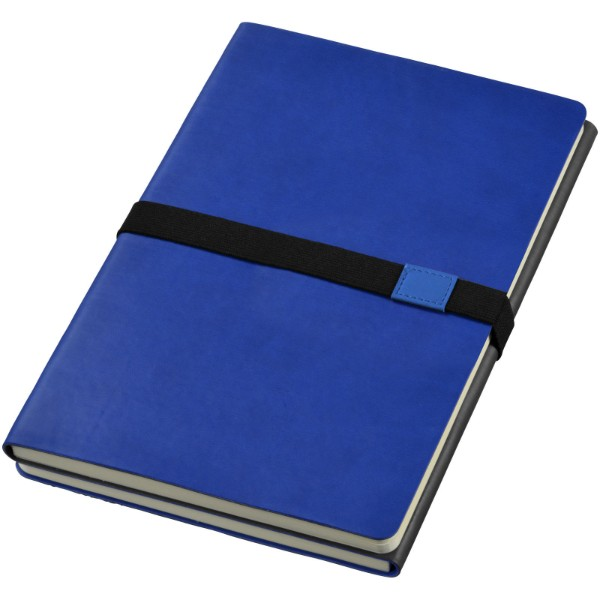 Doppio A5 soft cover notebook - Navy / Grey