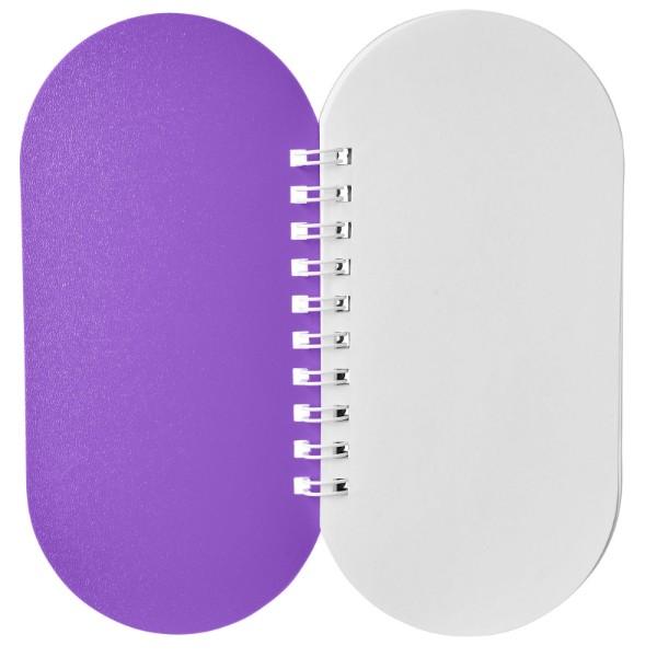 Poznámkový blok Capsule - Purpurová / Bílá