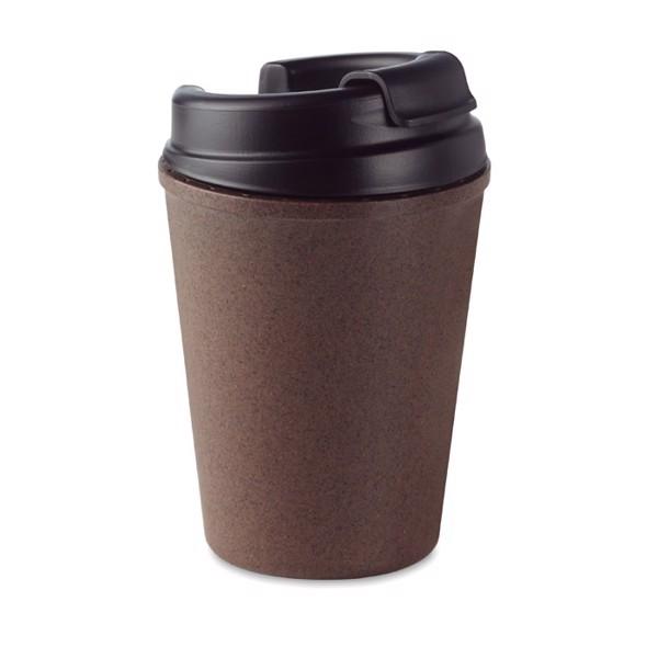 Double wall mug coffee husk/PP Brazil