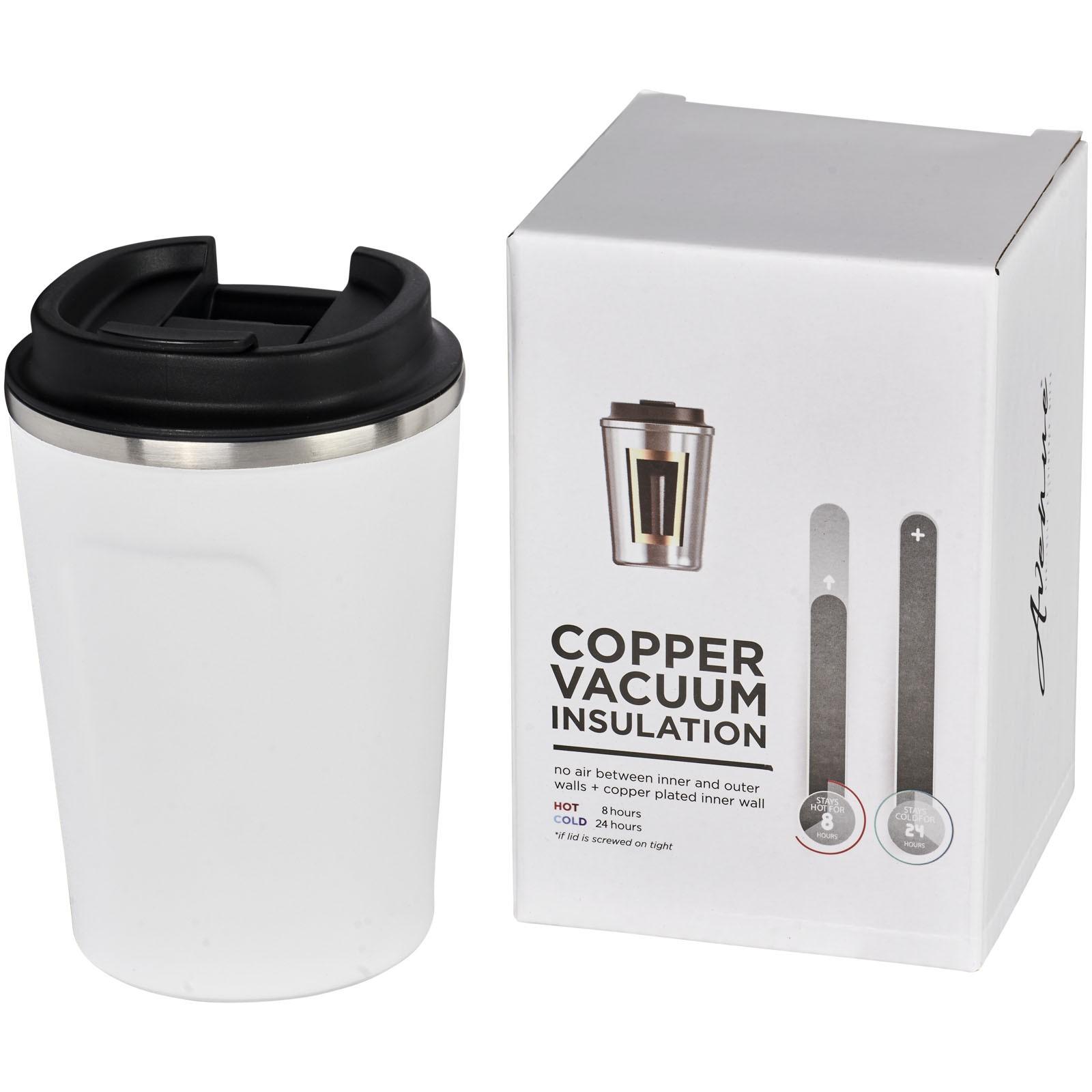 Thor 360 ml auslaufsicherer kuper-vakuum Isolierbecher - Weiss