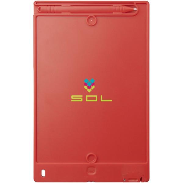 LCD psací tablet Leo - Červená s efektem námrazy