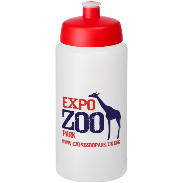 Baseline® Plus grip 500 ml sportovní lahev s víčkem na sport - Průhledná / Červená s efektem námrazy