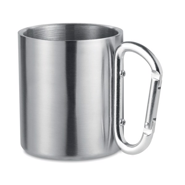 Metal mug & carabiner handle Trumbo - Matt Silver