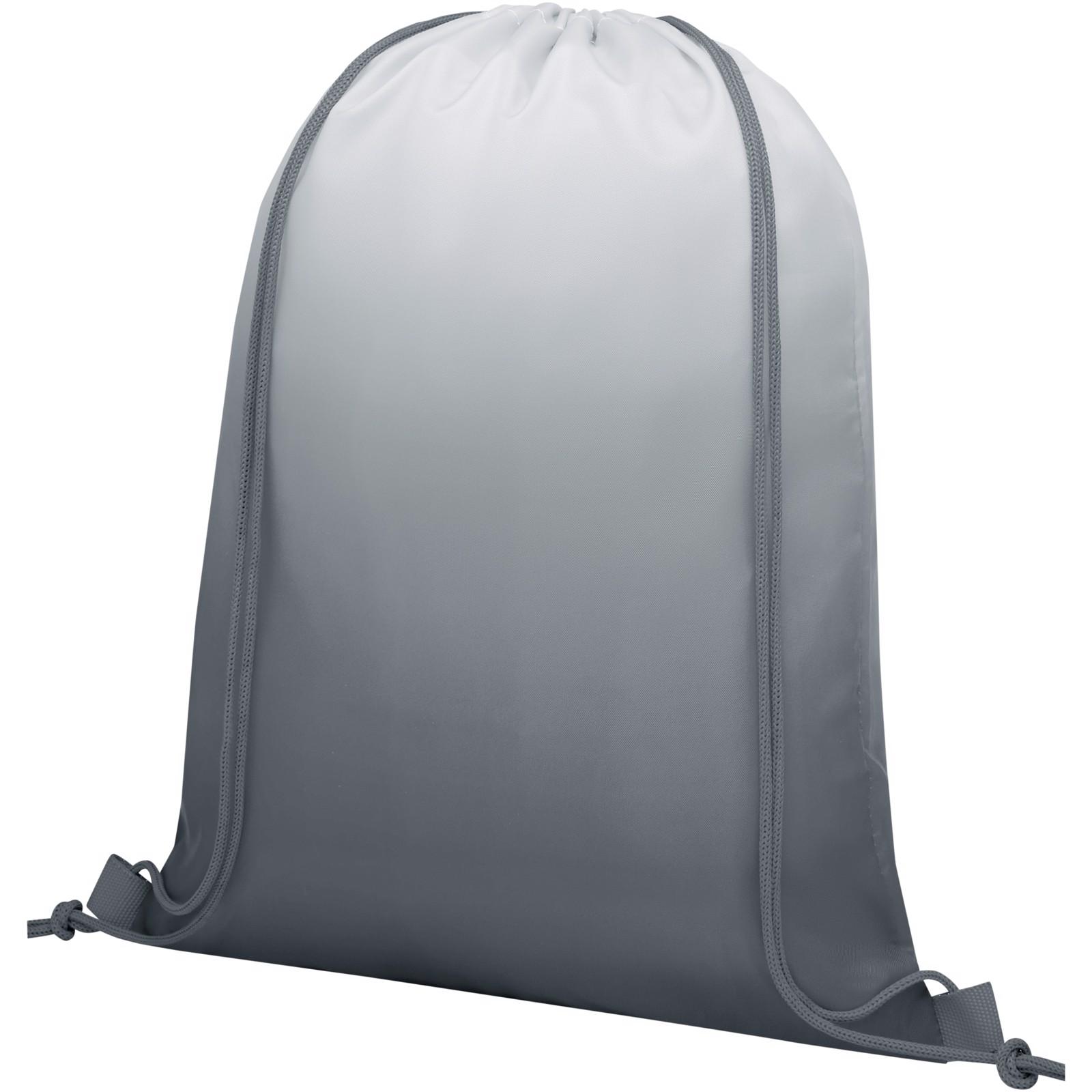 Oriole šňůrkový batoh s barevným přechodem - Šedá
