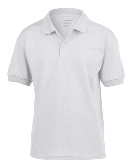 Dryblend® Youth Jersey Polo - White / XL
