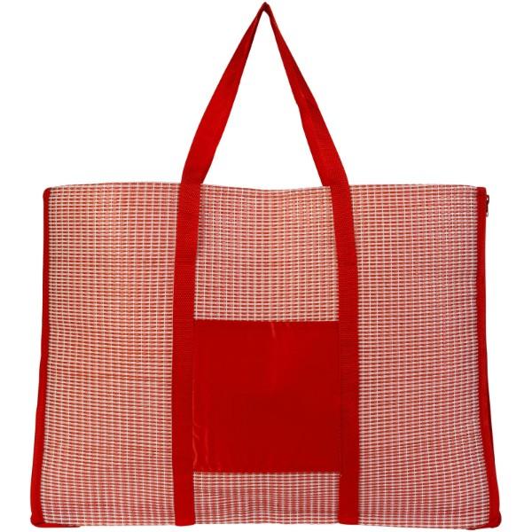 Skládací plážová taška a podložka Bonbini - Červená s efektem námrazy