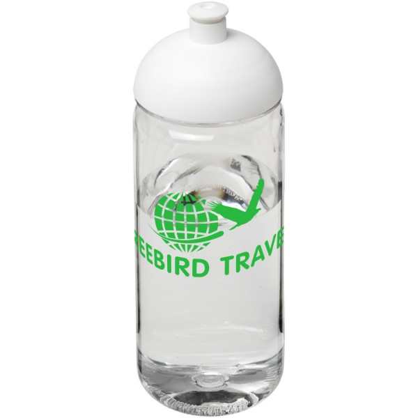 H2O Octave Tritan™ 600 ml dome lid sport bottle - Transparent / White