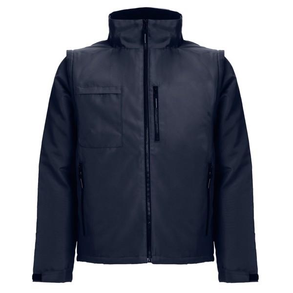 THC ASTANA. Unisex padded workwear jacket - Navy Blue / 3XL