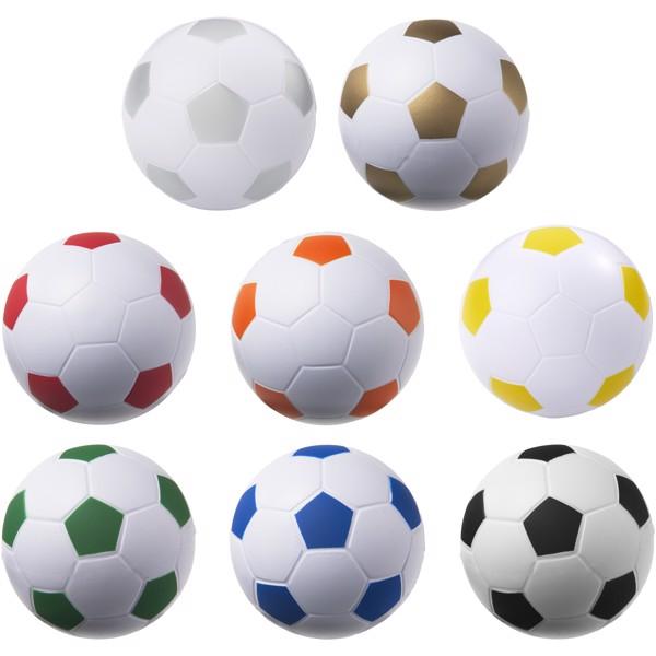 Fußball Antistressball - gold / weiss