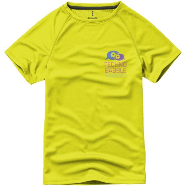 Dětské triko Niagara s krátkým rukávem, s povrchovou úpravou - Neonově Žlutá / 116