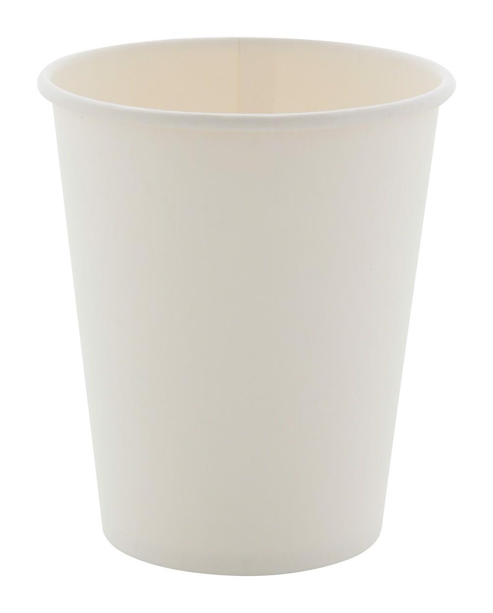 Pahar De Hârtie Papcap M, 240 Ml - Alb