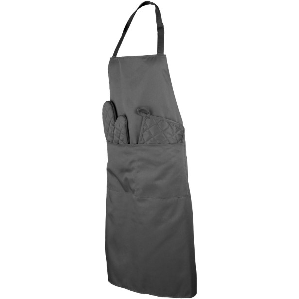 Dila 3-piece kitchen set in a pouch - Grey