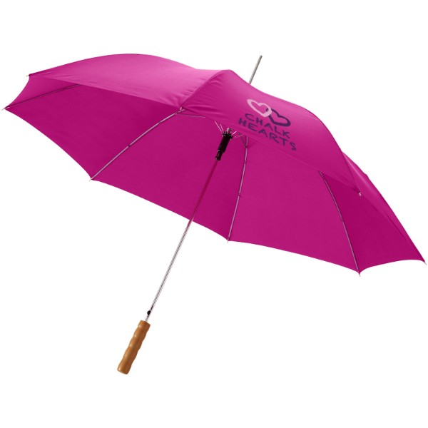 "Lisa 23"" auto open umbrella with wooden handle - Magenta"