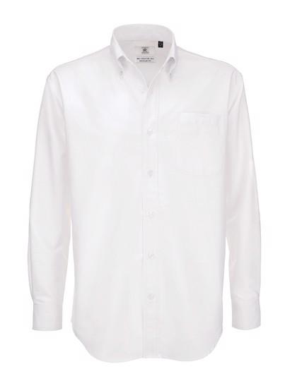 Shirt Oxford Long Sleeve /Men - White / 6XL