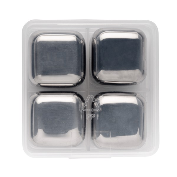 Hladilne kocke iz nerjavečega jekla za večkratno uporabo, 4 kosi