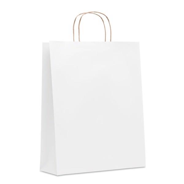 Duża papierowa torba Paper Tone L - biały