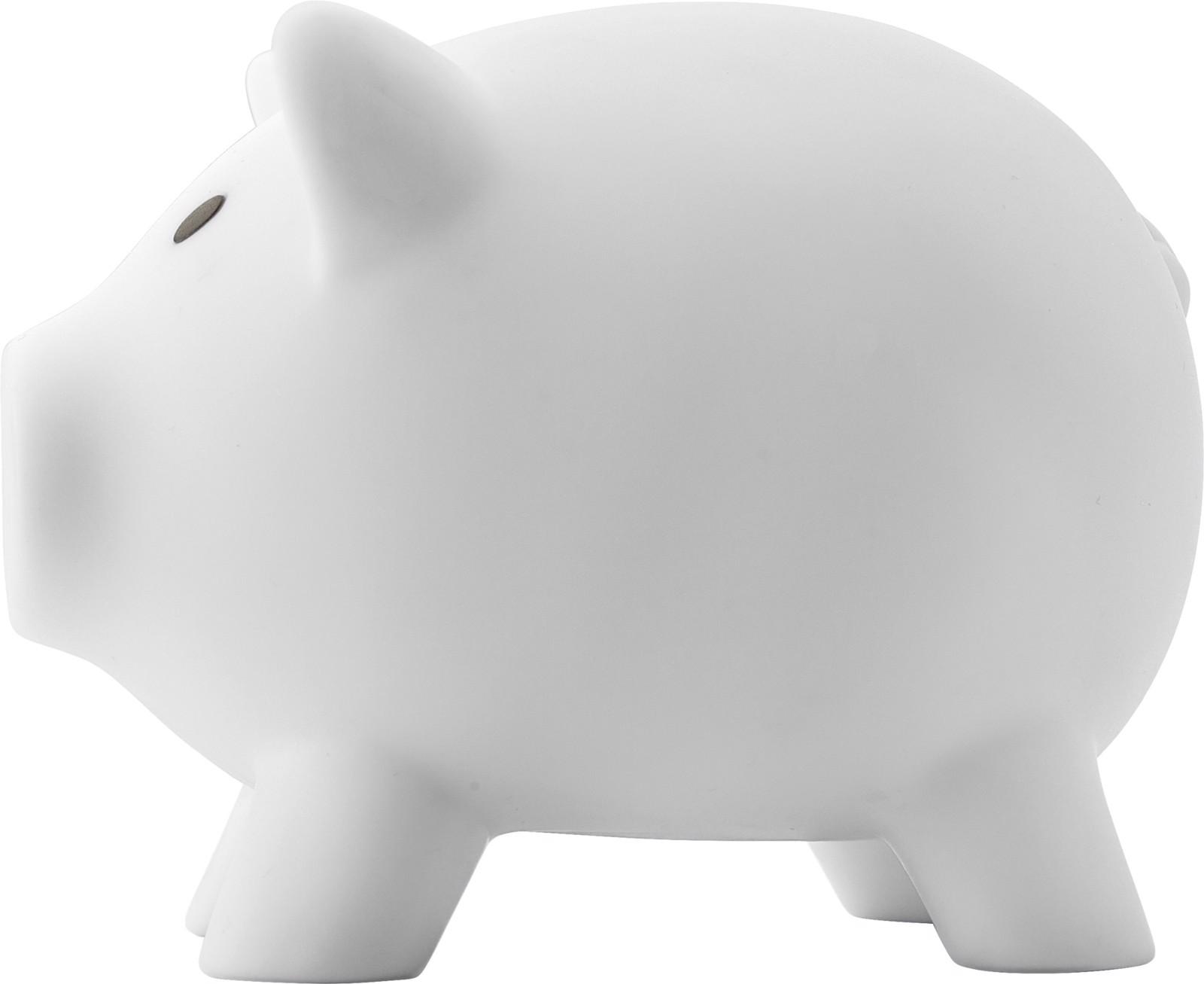 PVC piggy bank - White