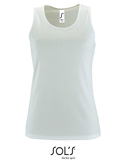 Women`S Sports Tank Top Sporty - White / M