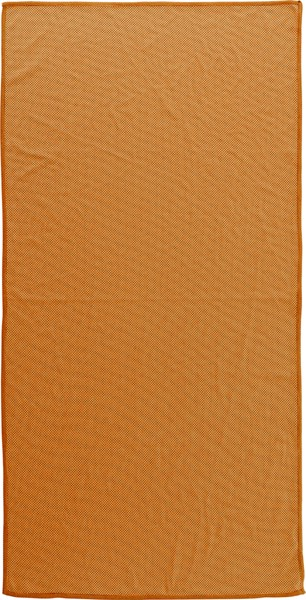 Nylon pouch with sports towel - Orange