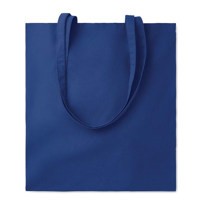 Cotton shopping bag 140gsm Cottonel Colour + - Blue