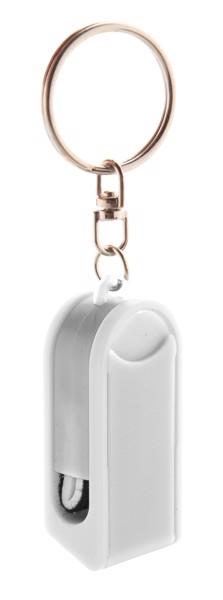 Breloc Cu Suport Telefon Mobil Satari - Alb / Alb
