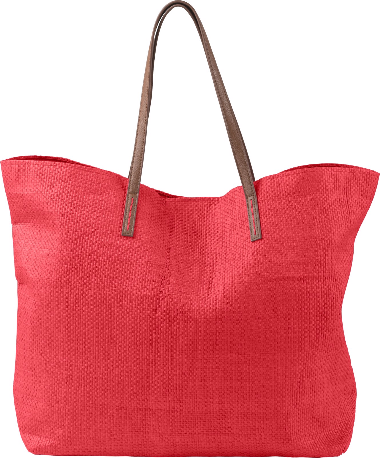 Laminated nonwoven (180 gr/m²) beach bag - Red