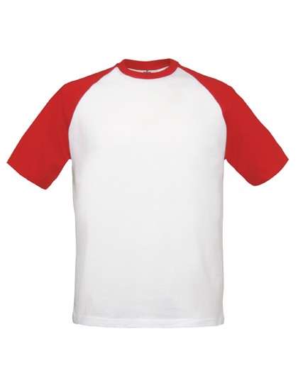 T-Shirt Base-Ball - White / Red / XXL
