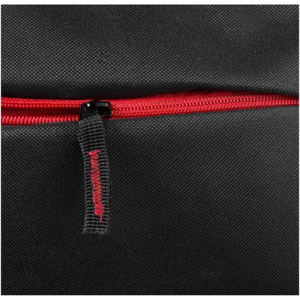 """Batoh Boston na notebook 15,6"""" - Černá / Červená s efektem námrazy"""