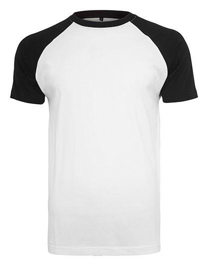 Raglan Contrast Tee - White / Black / 4XL