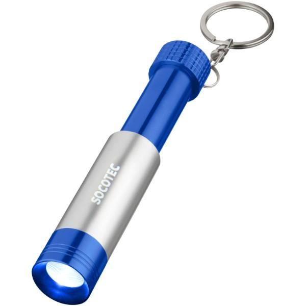 Klíčenková svítilna Bezou - Světle modrá / Stříbrný