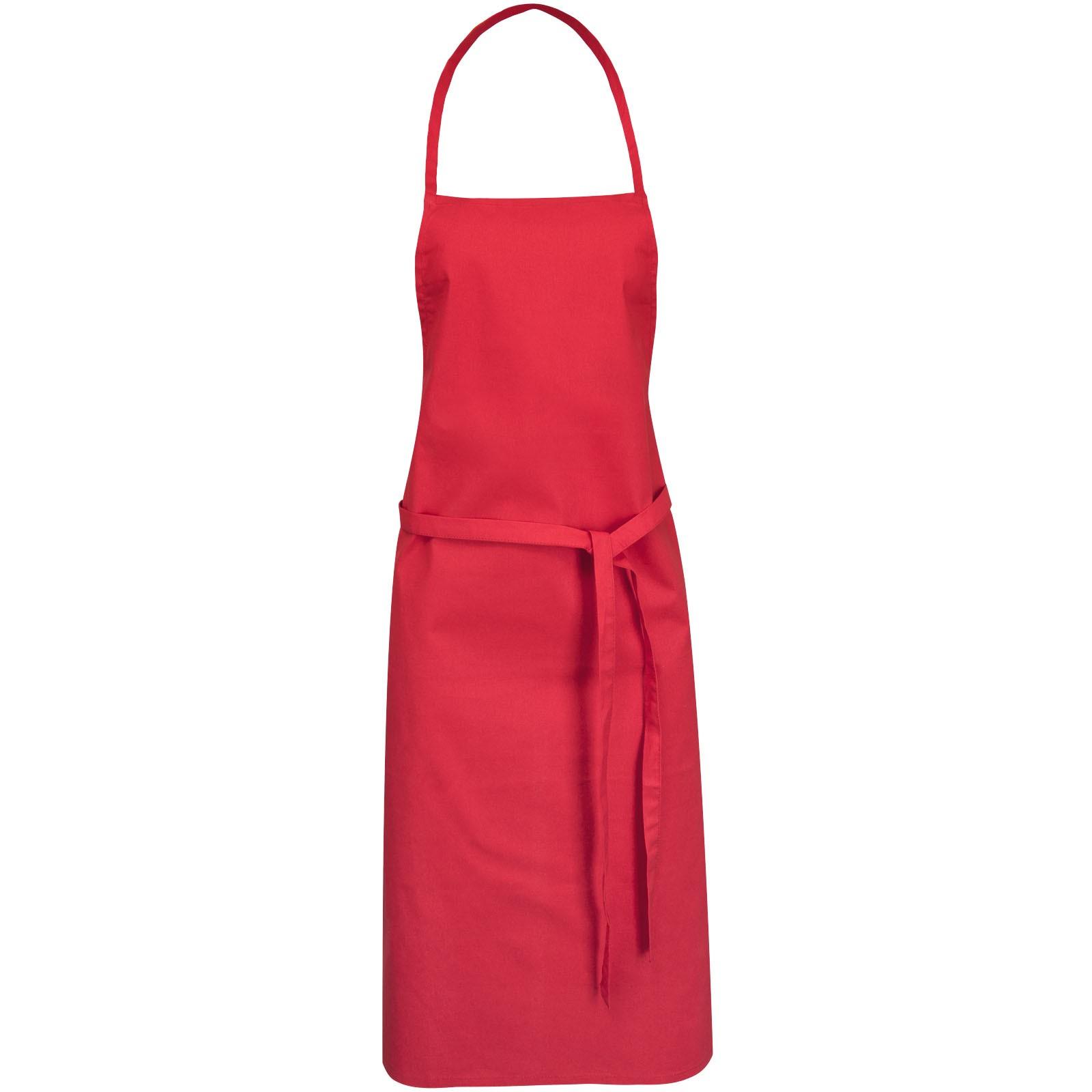 Zástěra Reeva ze 100% bavlny se zadním zavazováním - Červená s efektem námrazy