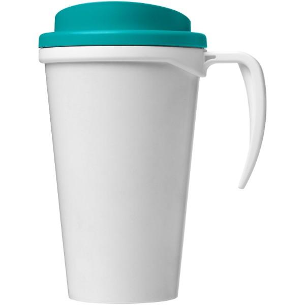 Brite-Americano® Vaso térmico grande de 350 ml - Blanco / Azul aqua