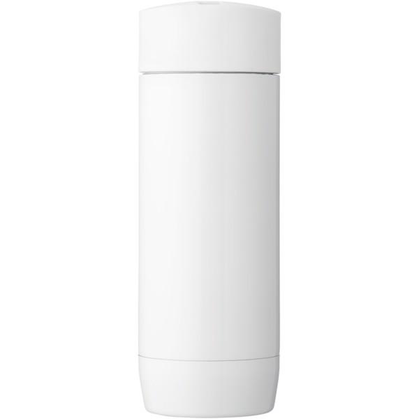 """Vaso isotérmico anti fugas con aislamiento al vacío """"Valby"""" - Blanco"""