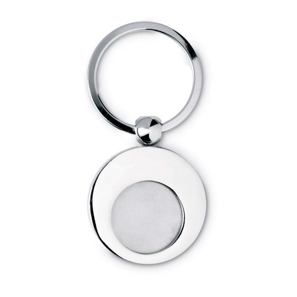 Metal key ring with token Euring