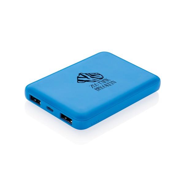 Kapesní powerbanka s vysokou hustotou baterie 5 000 mAh - Modrá
