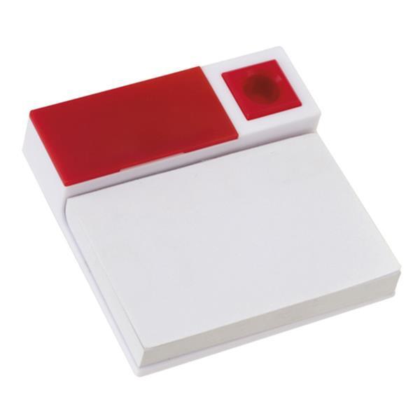 Bloco De Notas, Clips E Porta-Esferográfica - Vermelho