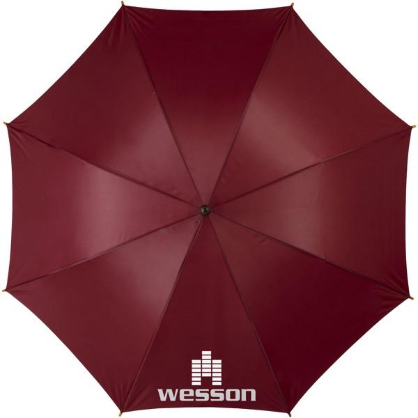 """23"""" deštník Kyle s automatickým otvíráním a dřevěnou tyčí a rukojetí - Červená s efektem námrazy"""