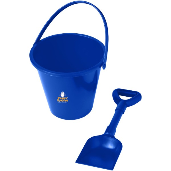 Finn beach bucket and spade - Blue