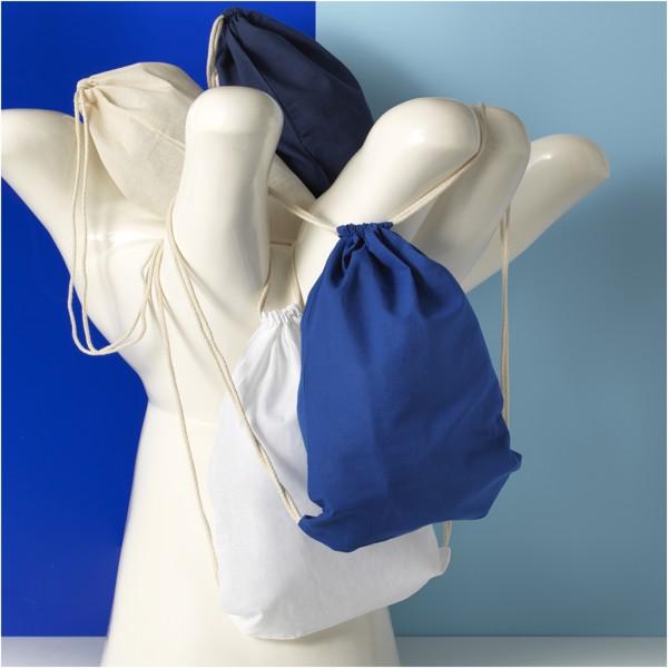 Oregon 100 g/m² cotton drawstring backpack - Natural