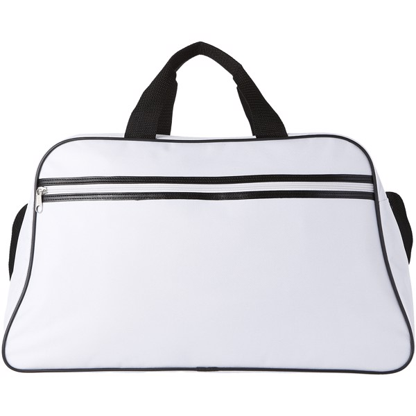 San Jose 2-stripe sports duffel bag - White / White