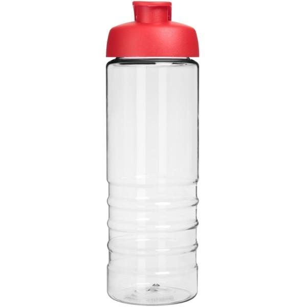 H2O Treble 750 ml sportovní lahev s vyklápěcím víčkem - Průhledná / Červená s efektem námrazy