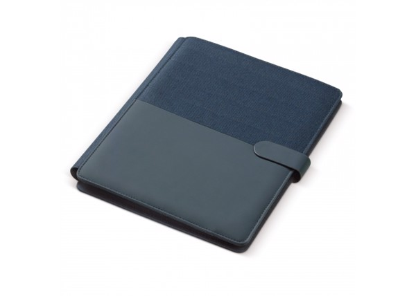 A4 portfolio with wireless charger 5W - Dark Blue
